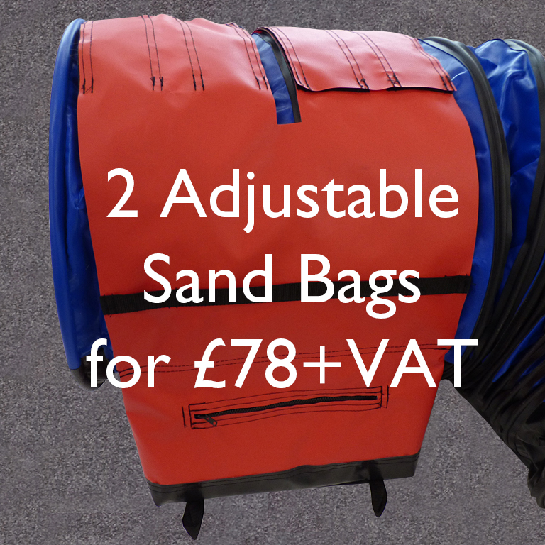 2 for £78+VAT Non-Slip-Adjustable-Sand-Bag-Straps-with-segment-pockets
